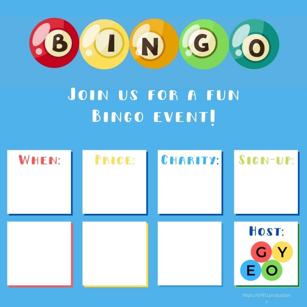 Bingo flyer for Instagram